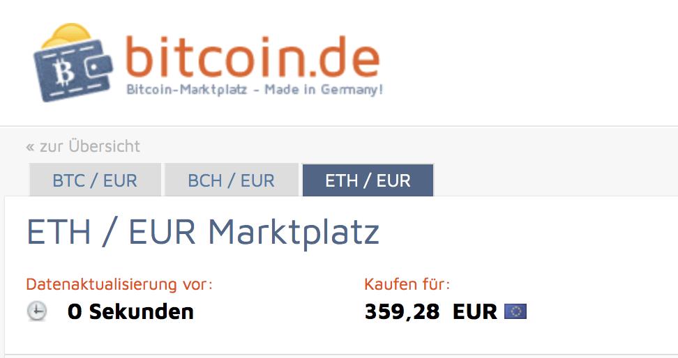 Etheeum kaufen auf bitcoin.de