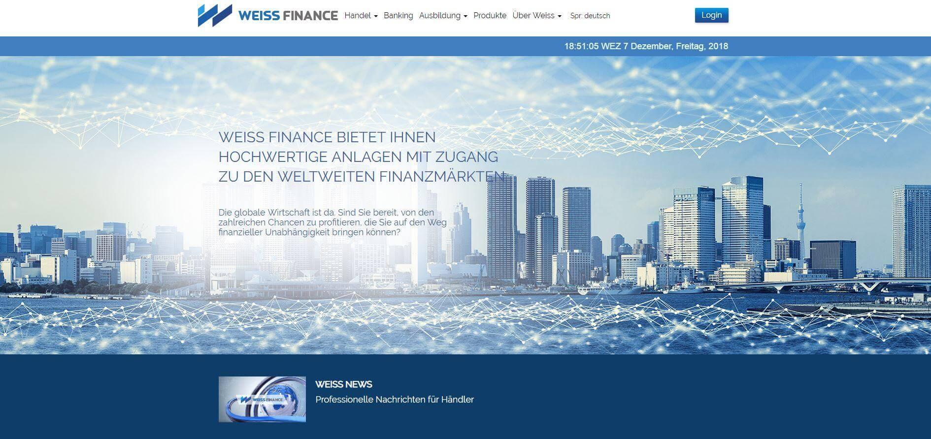 Weiss Finance Erfahrungen