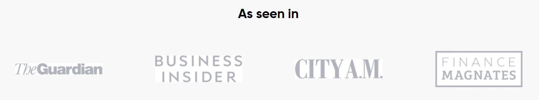 Capital.com - gesehen in berühmten Magazinen