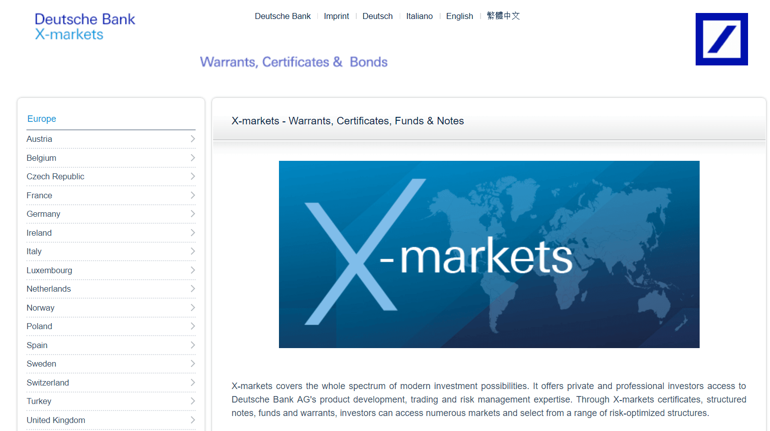 Xmarkets Test