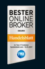 Degiro Erfahrungen - Auszeichnung Handelsblatt