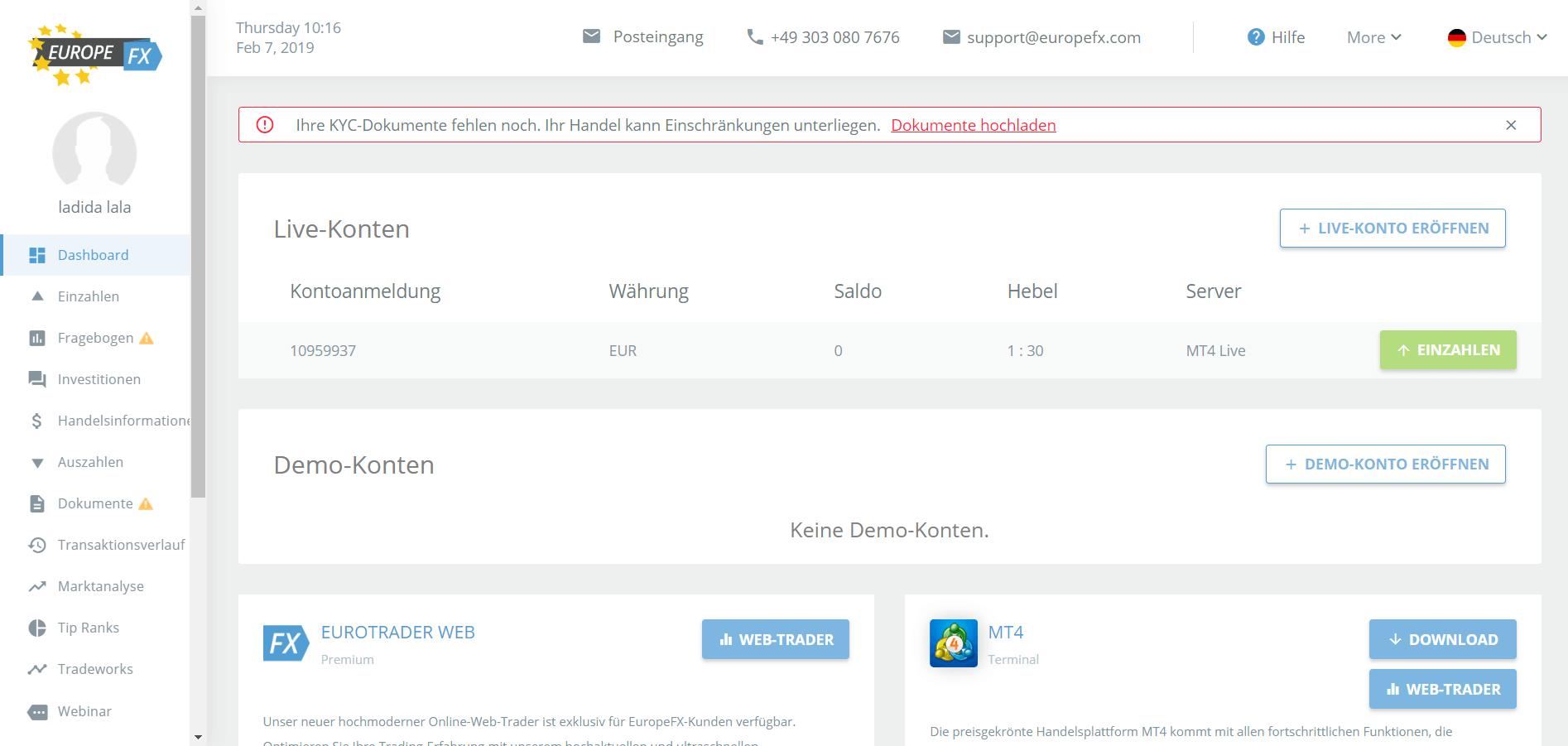 Europefx Betrug