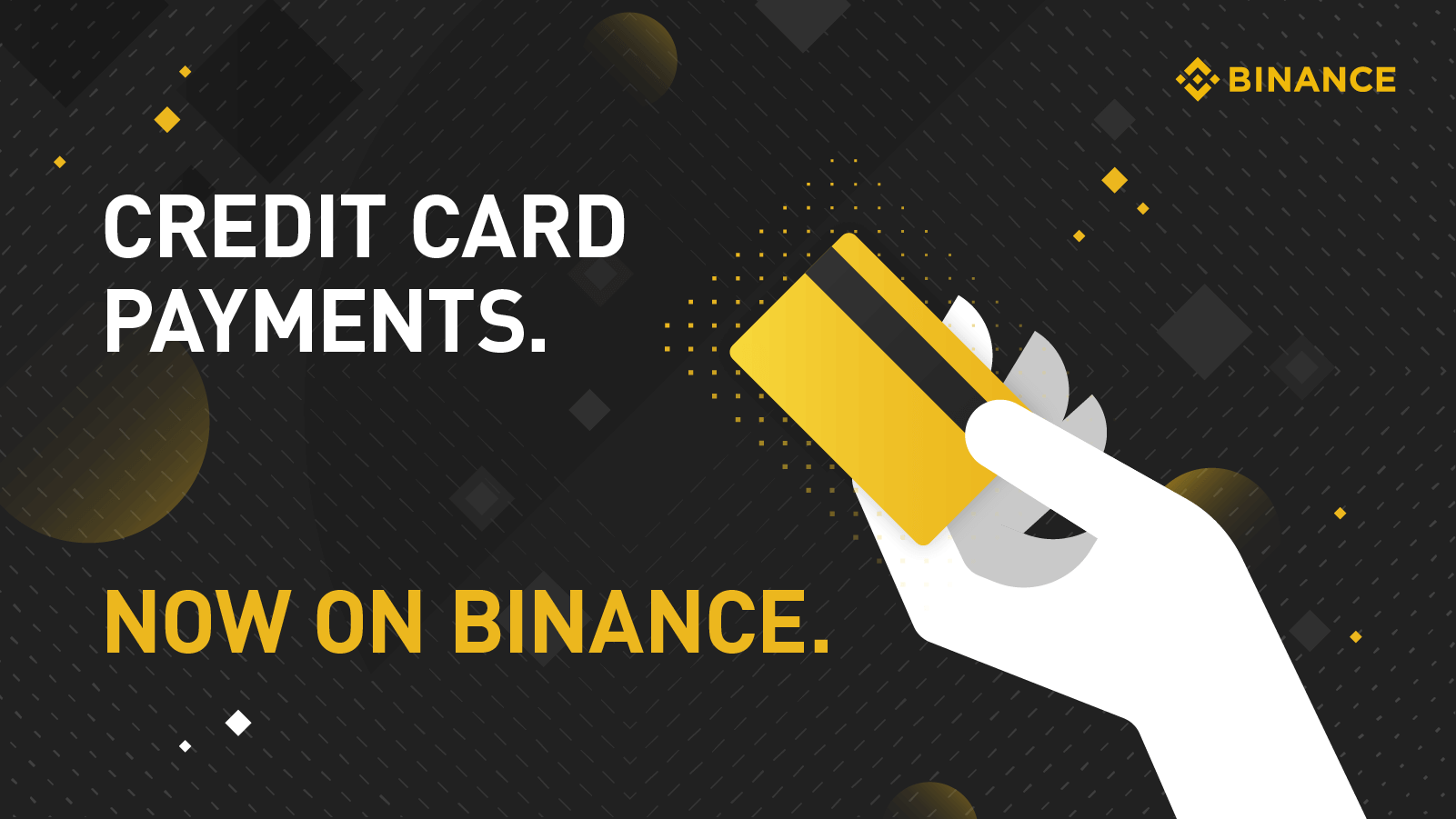 Binance Kreditkarten Werbung