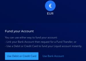 Liquid Fiat Einzahlung