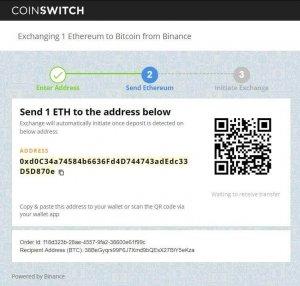 Coinswitch Handeln