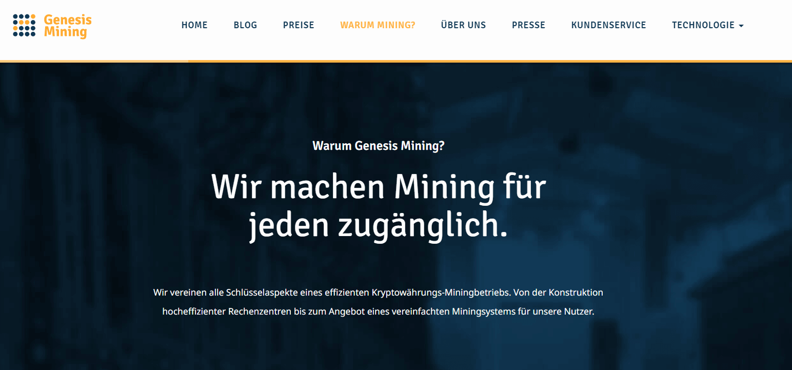 Was ist Genesis Mining