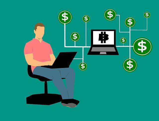 Bitcoin computer photo