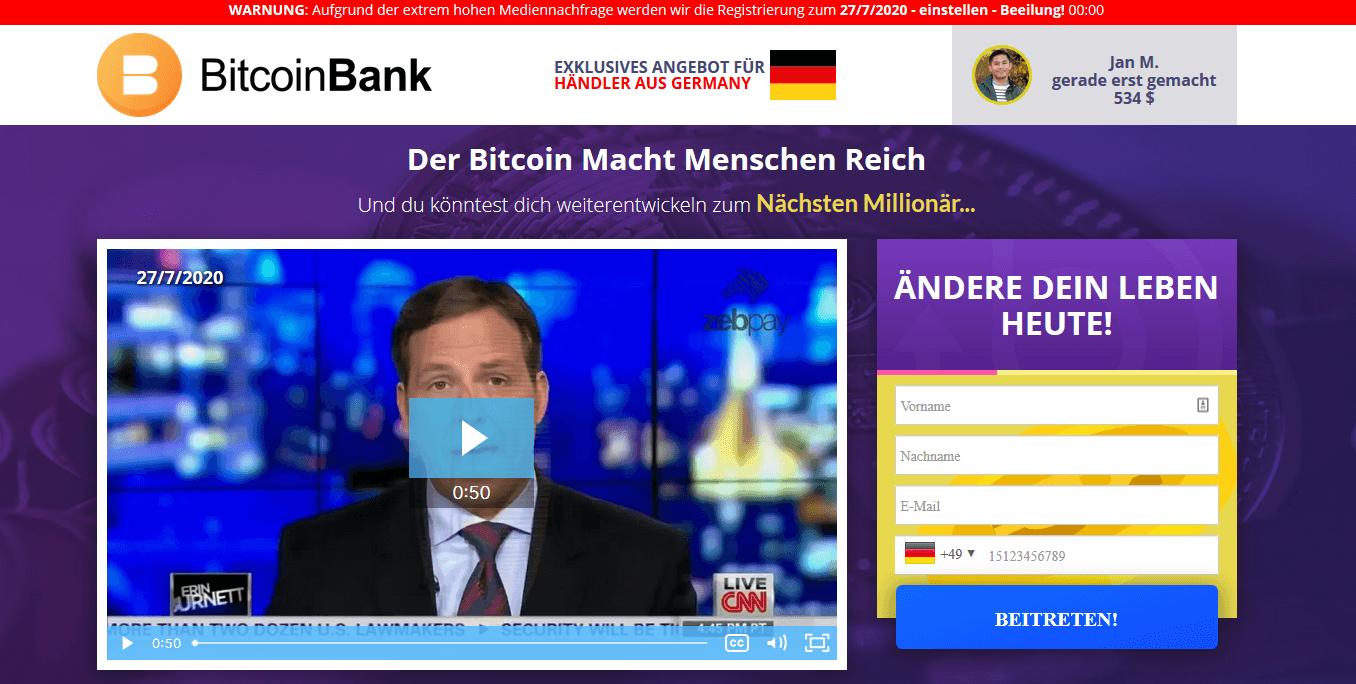 Der Krypto Roboter Bitcoin Bank
