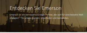 Emerson Aktien Marktumfeld