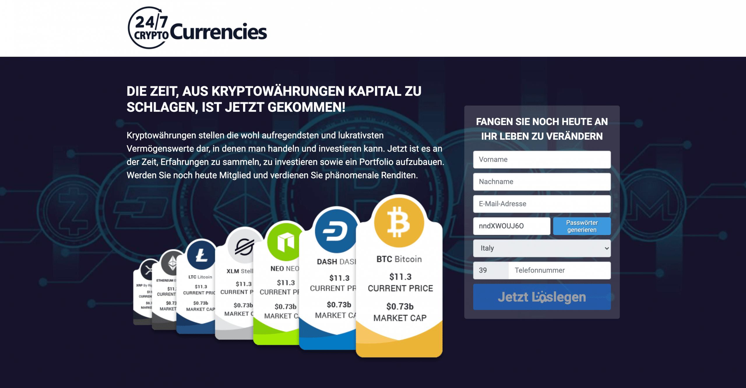 247 Cryptocurrencies Startseite