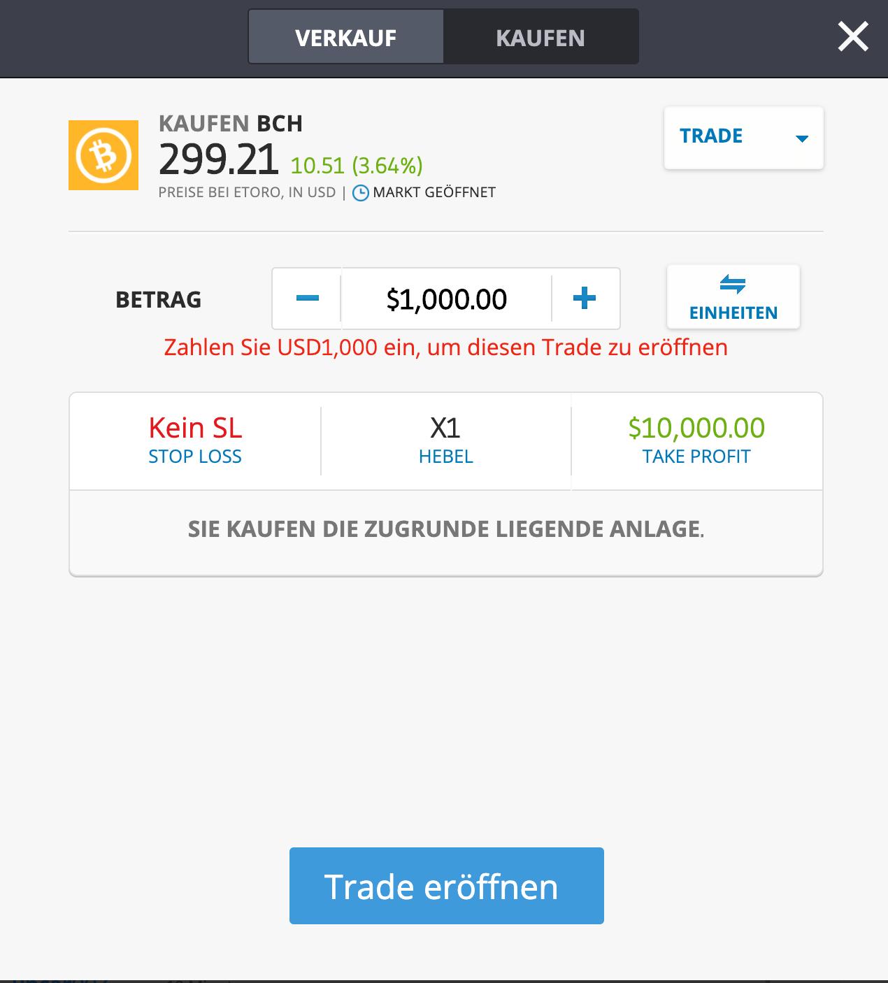 Bitcoin Cash Kaufen