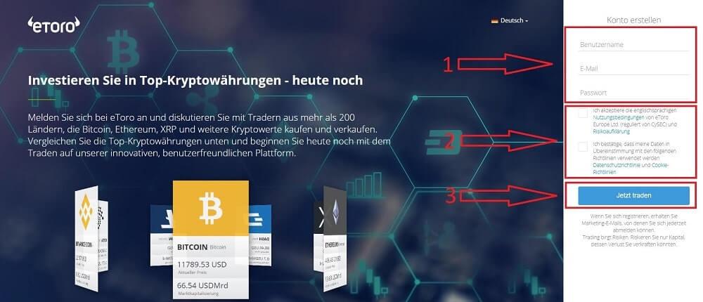 Bitcoin Kaufen Landingpage eToro