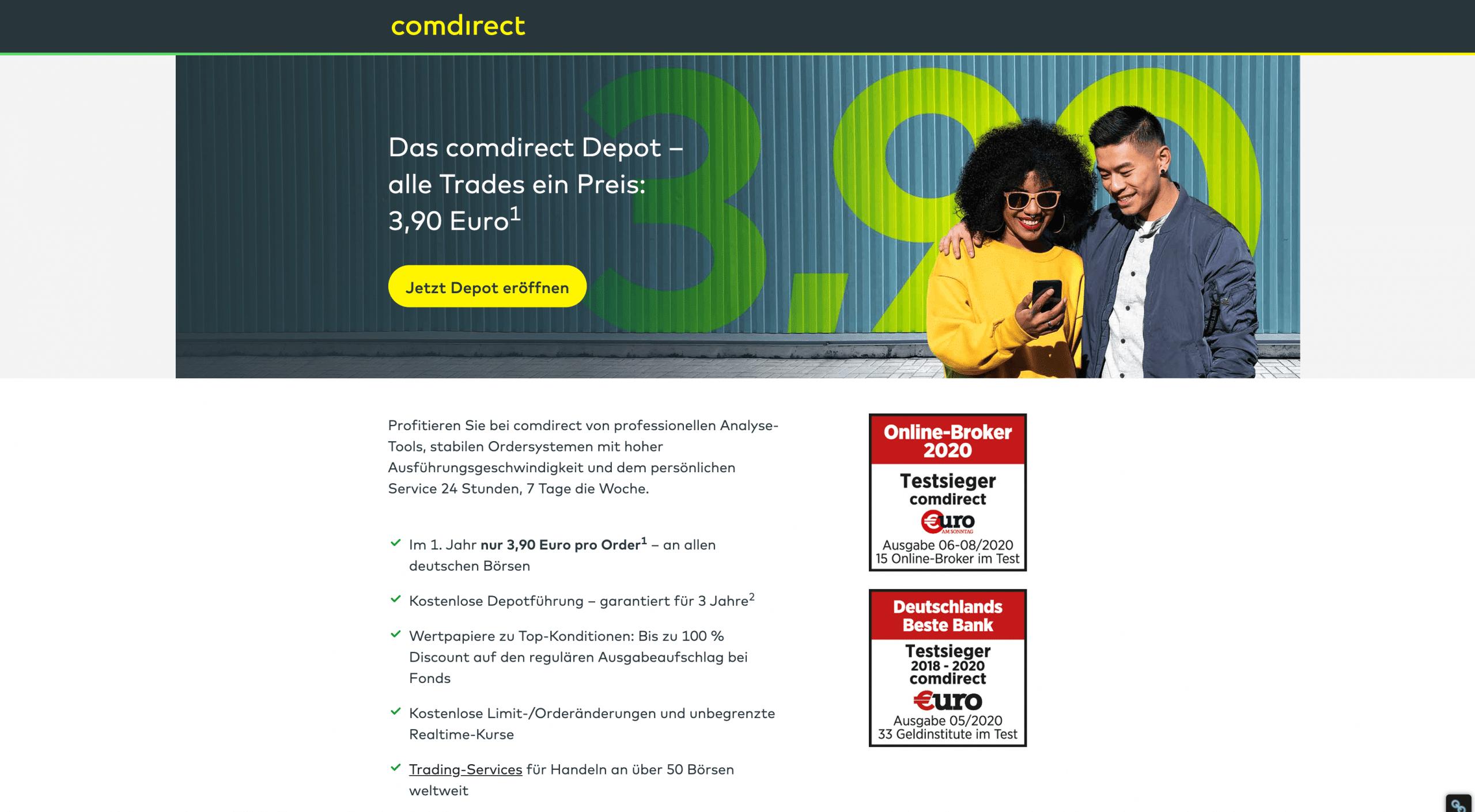 Comdirect Depot eröffnen