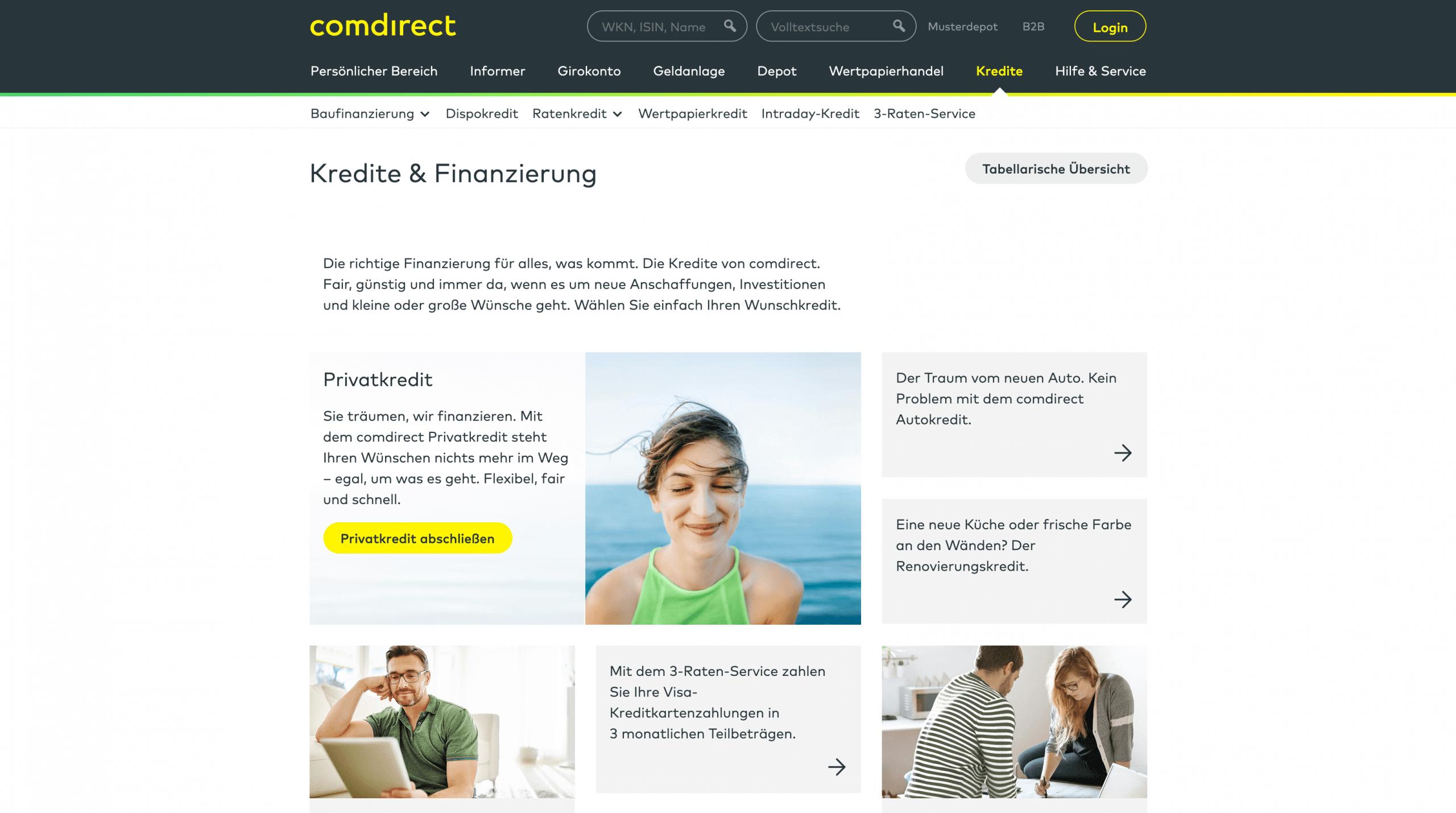 Comdirect Kredite