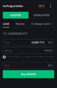Mit einer kleinen Anzahl Bitcoin Waves kaufen
