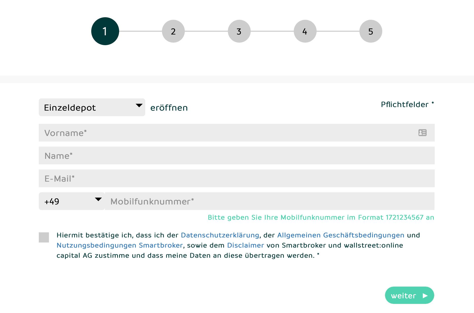 Smartbroker Name und Kontaktdaten