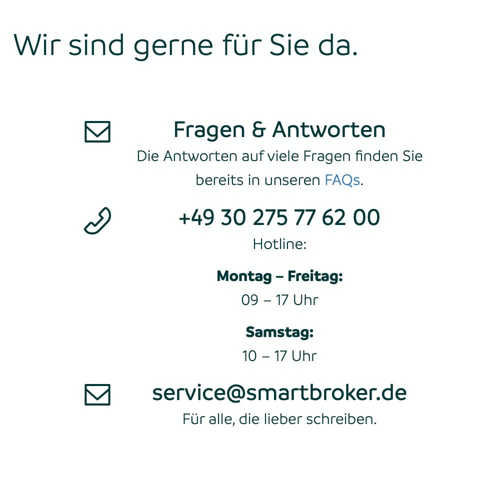 Smartbroker Kundenservice