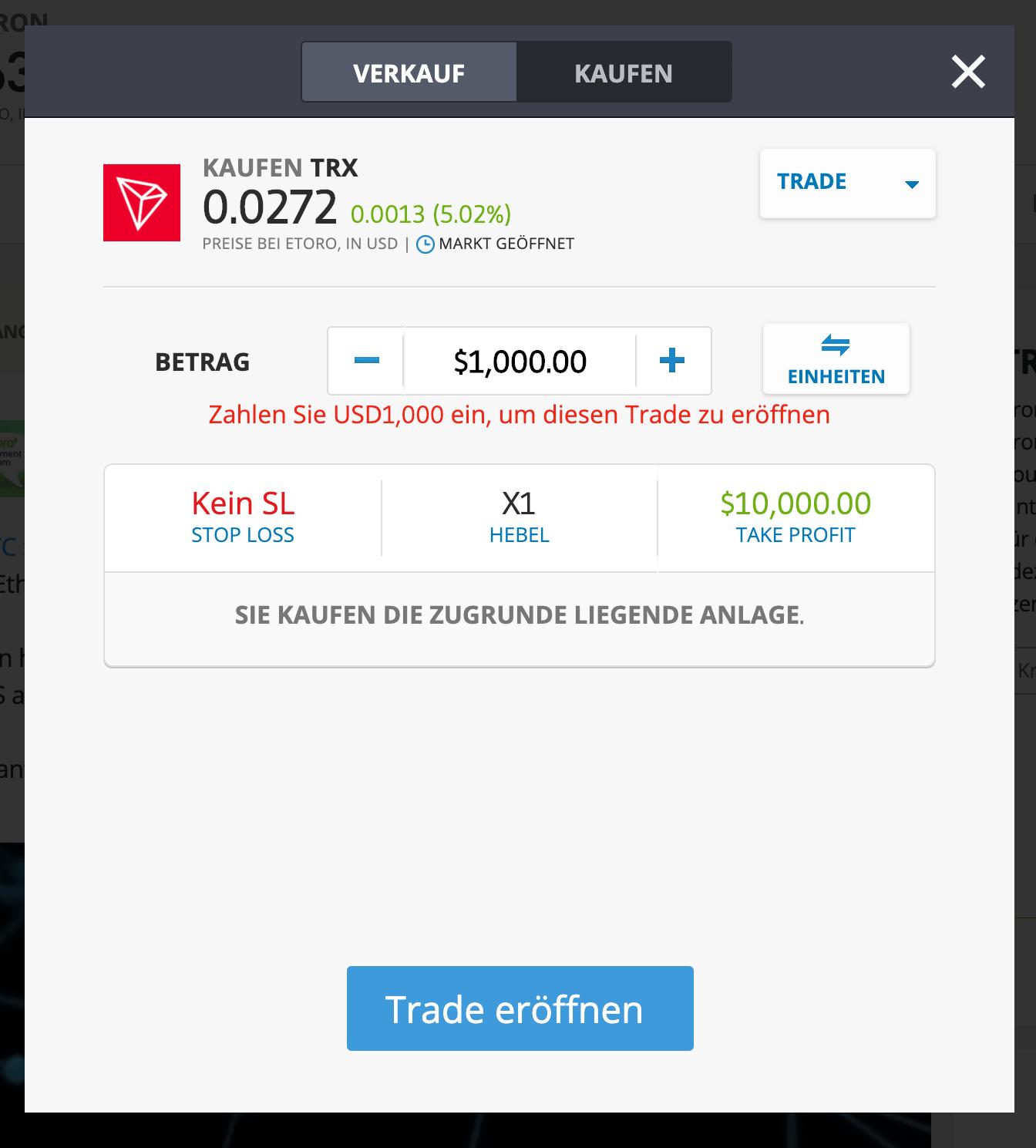Tron Kaufen