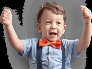 Glückliches Kind - 1822direkt Werbung