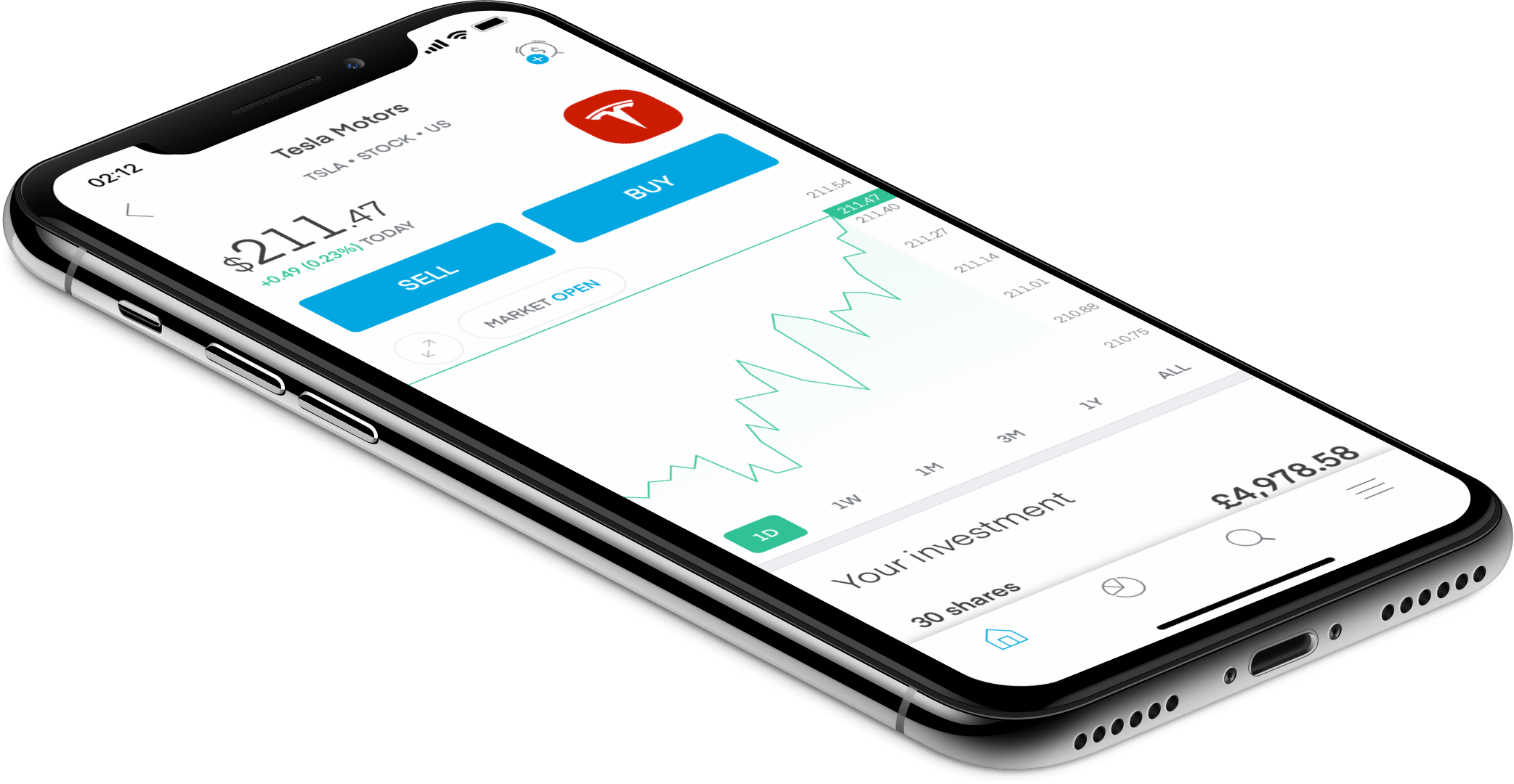 Trading 212 - Handel am Smartphone