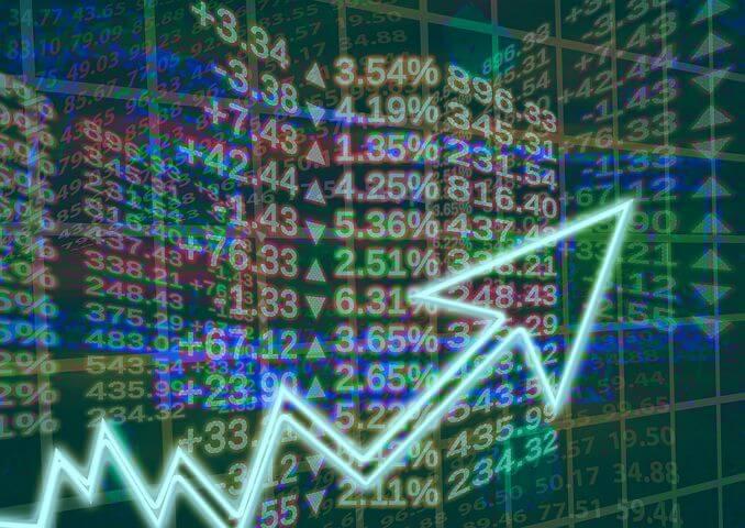 Aktienmarkt - Pfeil - Aufwärtstrend