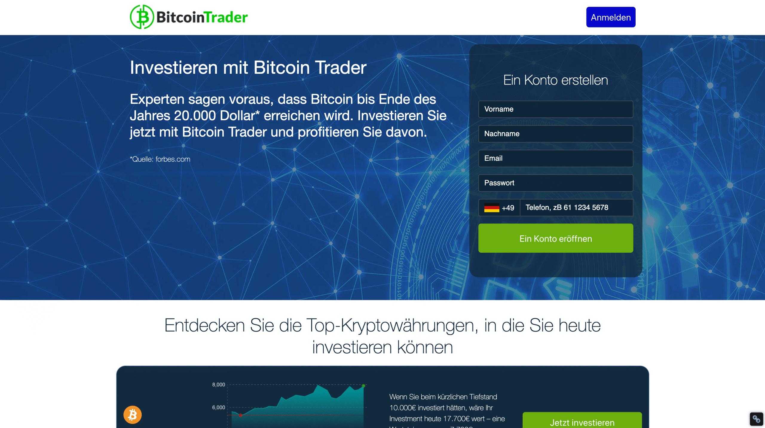 Bitcoin Trader Anmeldung