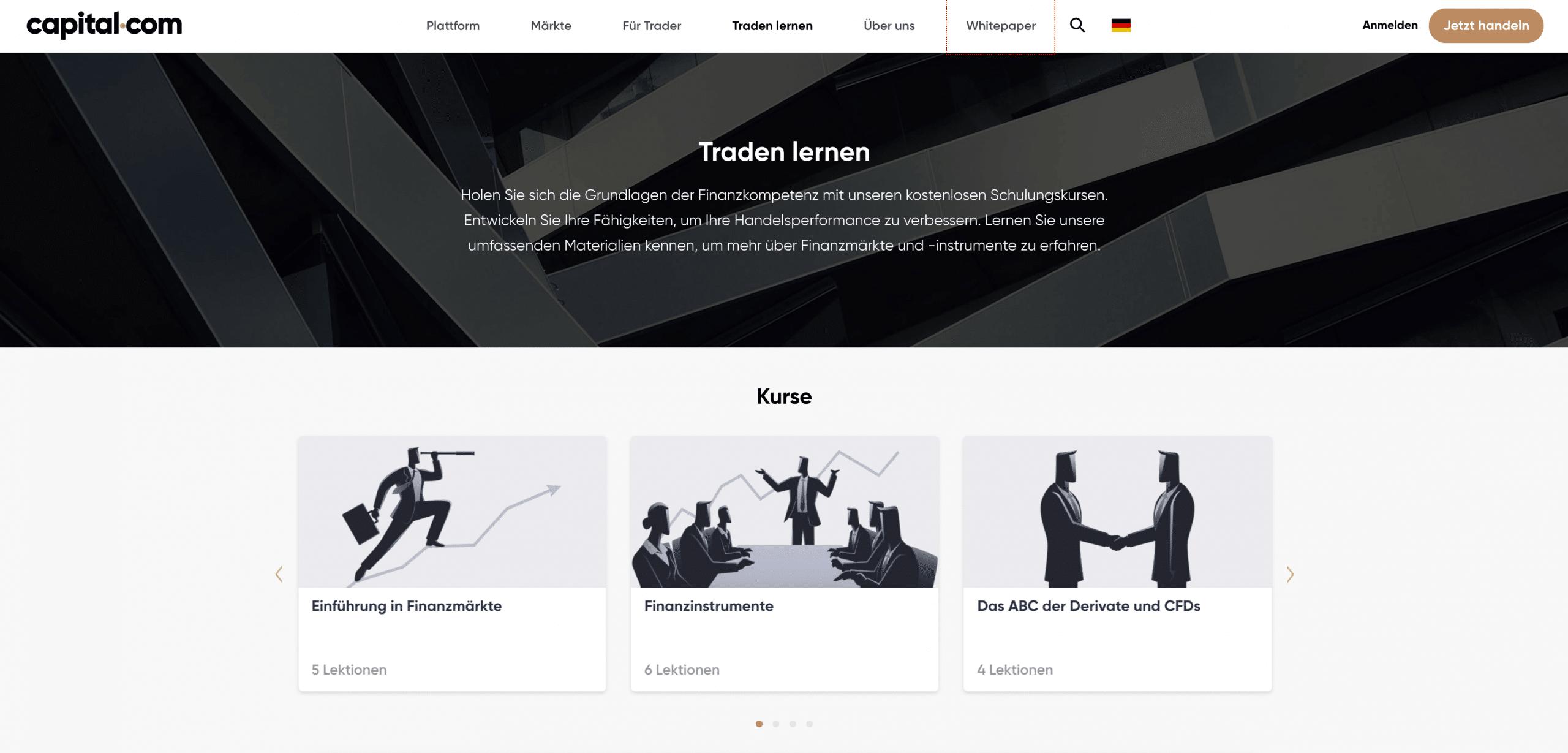 Capital.com Weiterbildung