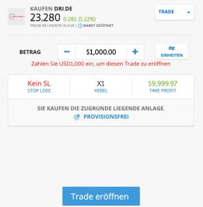 Drillisch Aktie kaufen mit eToro