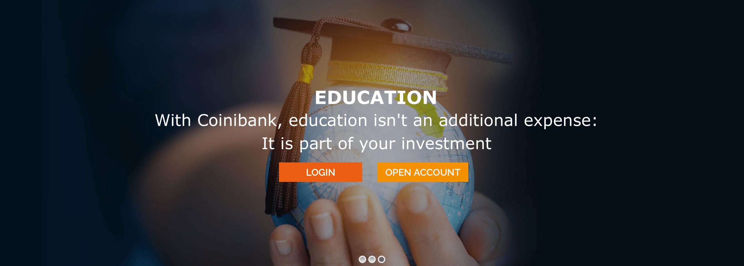 Coinibank Education Header