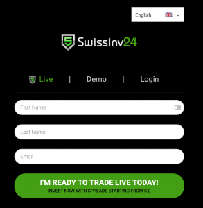 SwissInv24 Anmeldung