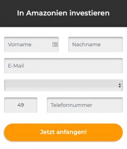 In Amazon Investieren - Anmeldung