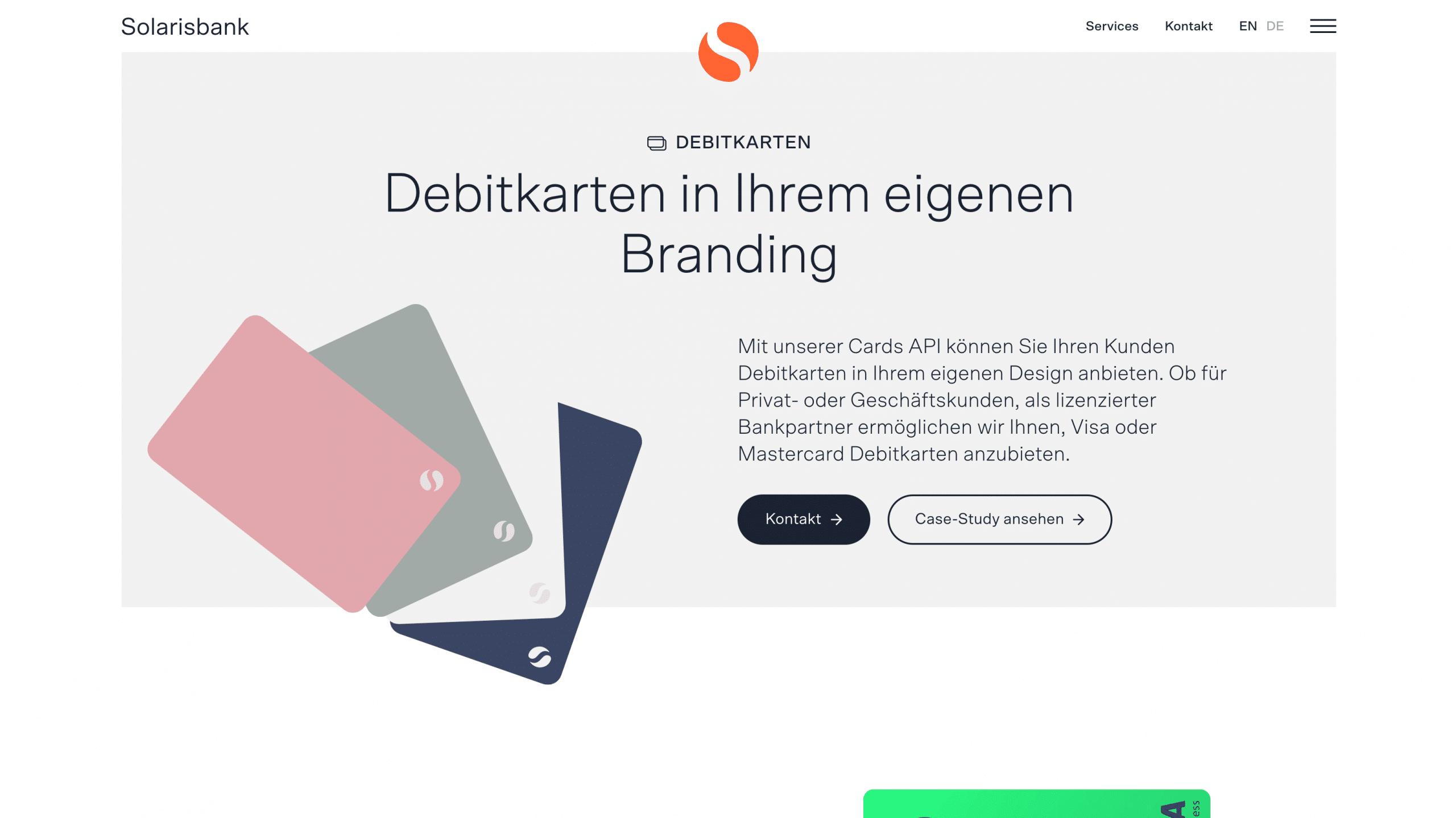 Solarisbank Debitkarten