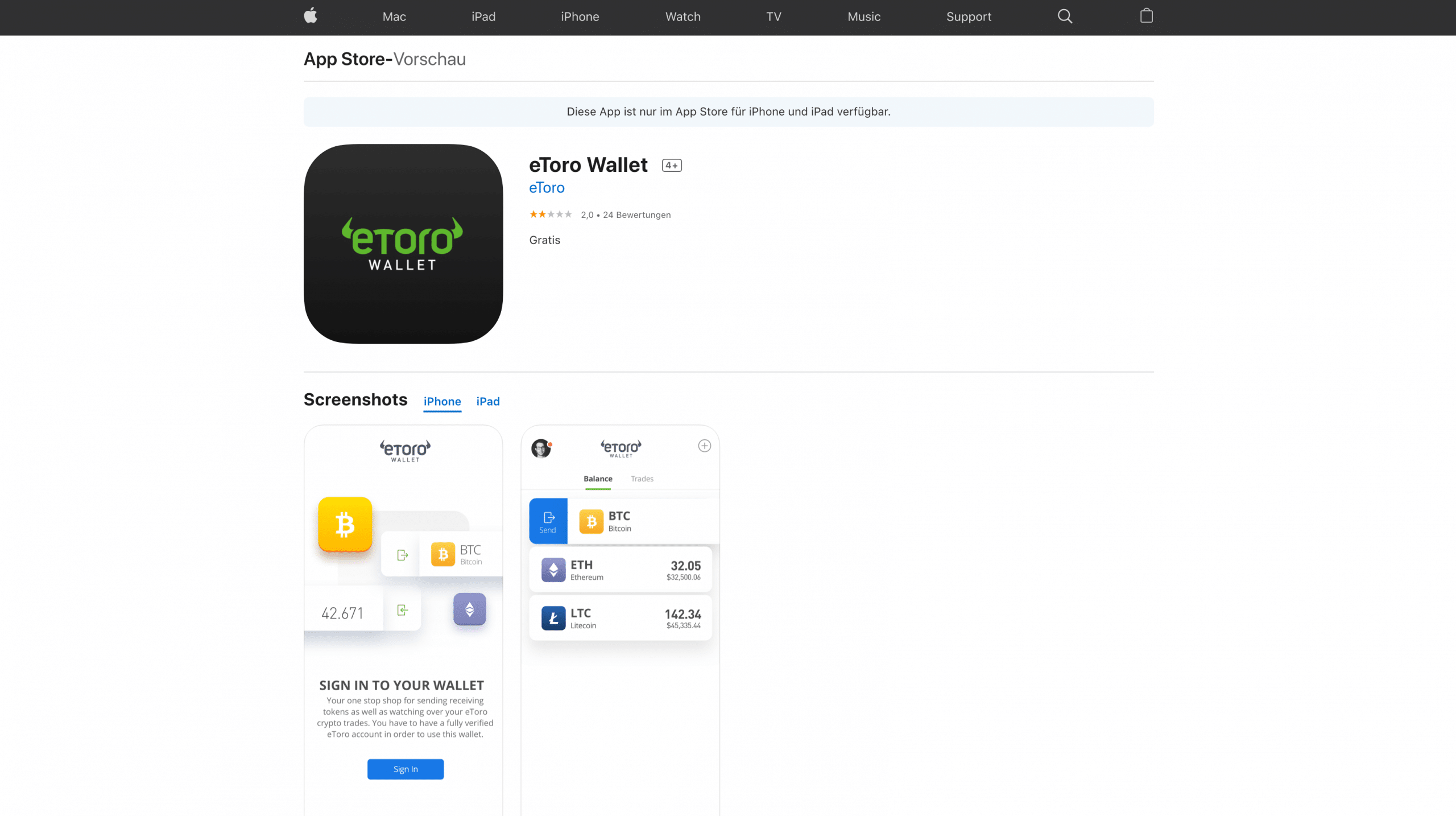 etoro wallet download