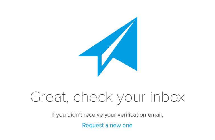 Schritt 2: E-Mail Verifizieren