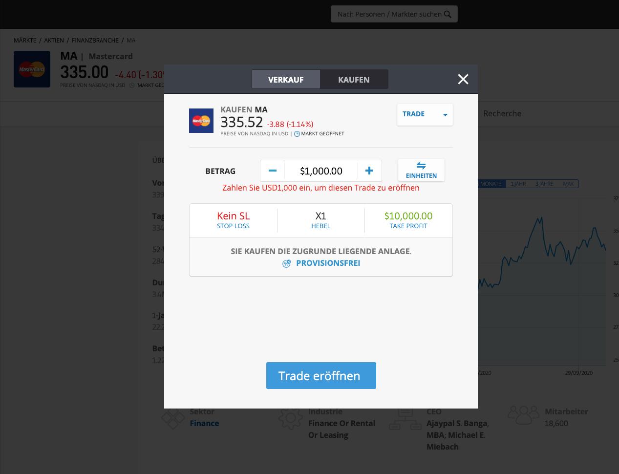 Mastercard Aktie kaufen