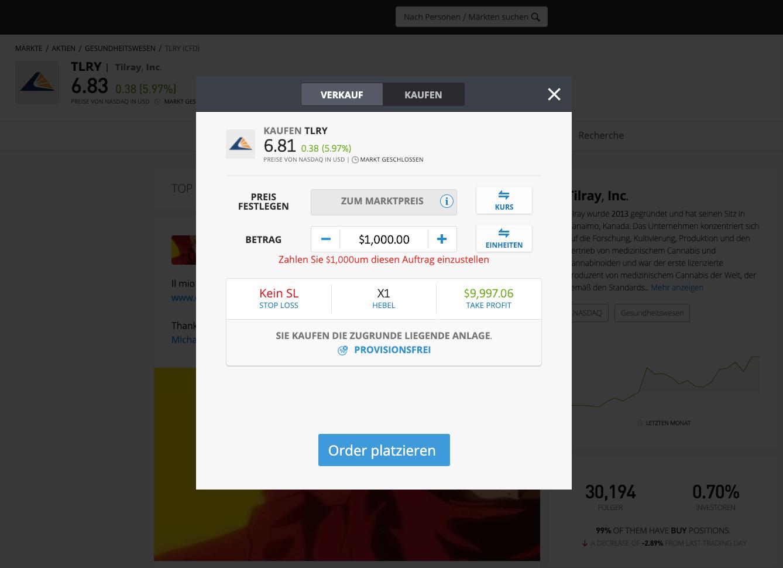 Tilray Aktien kaufen