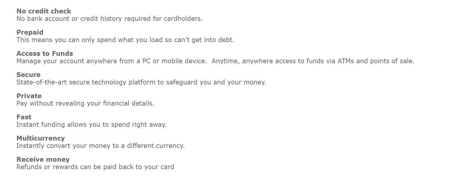 Uquid Card Vorteile