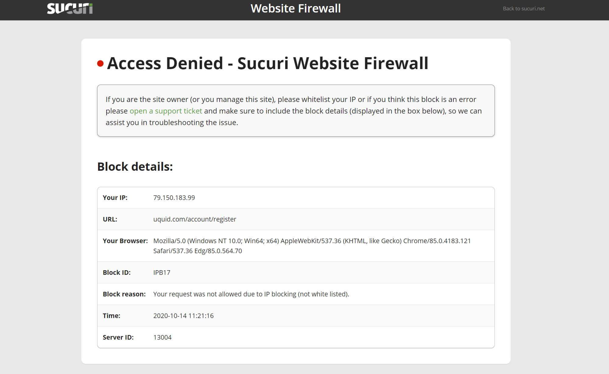 Uquid Sicherheit Firewall