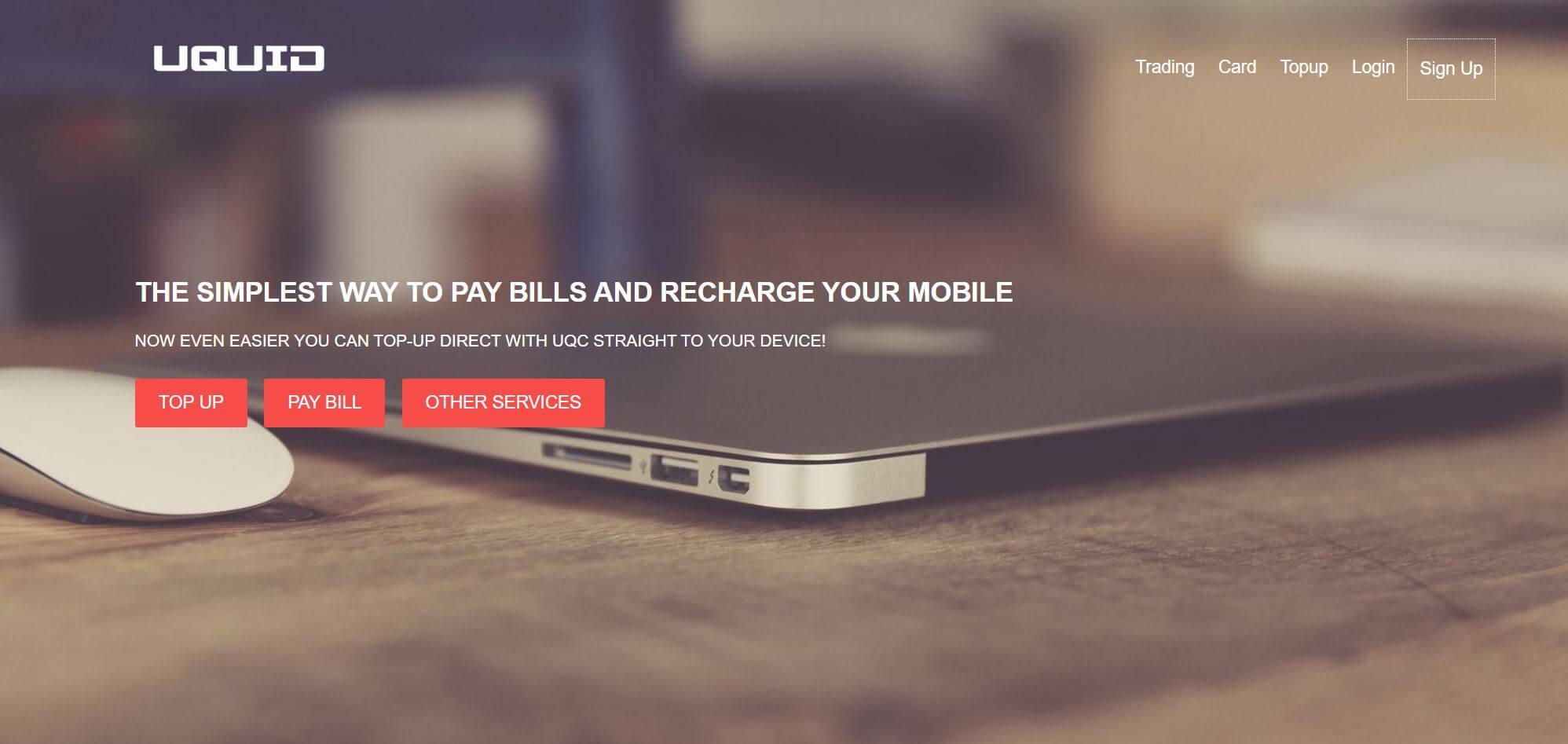 Uquid Prepaid Card Startseite