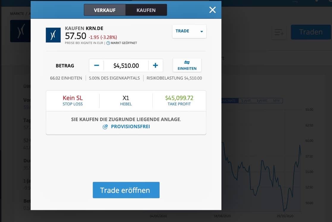 Krones Aktie kaufen _etoro