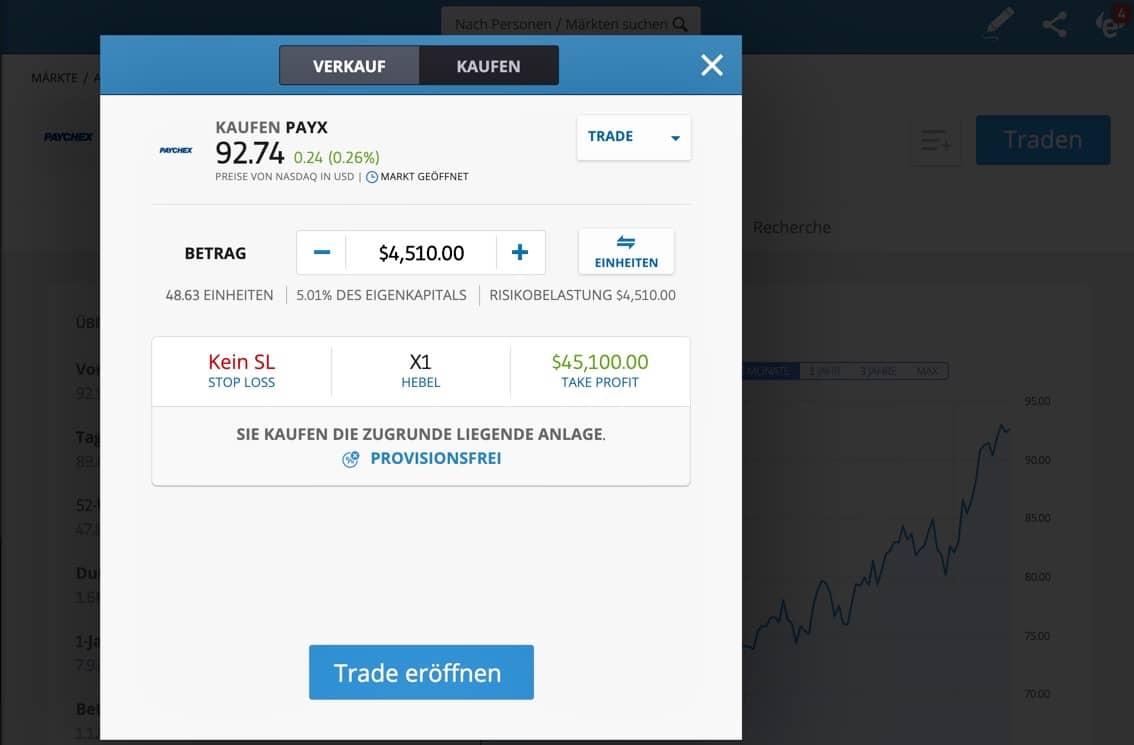 Paychex Aktien kaufen eToro
