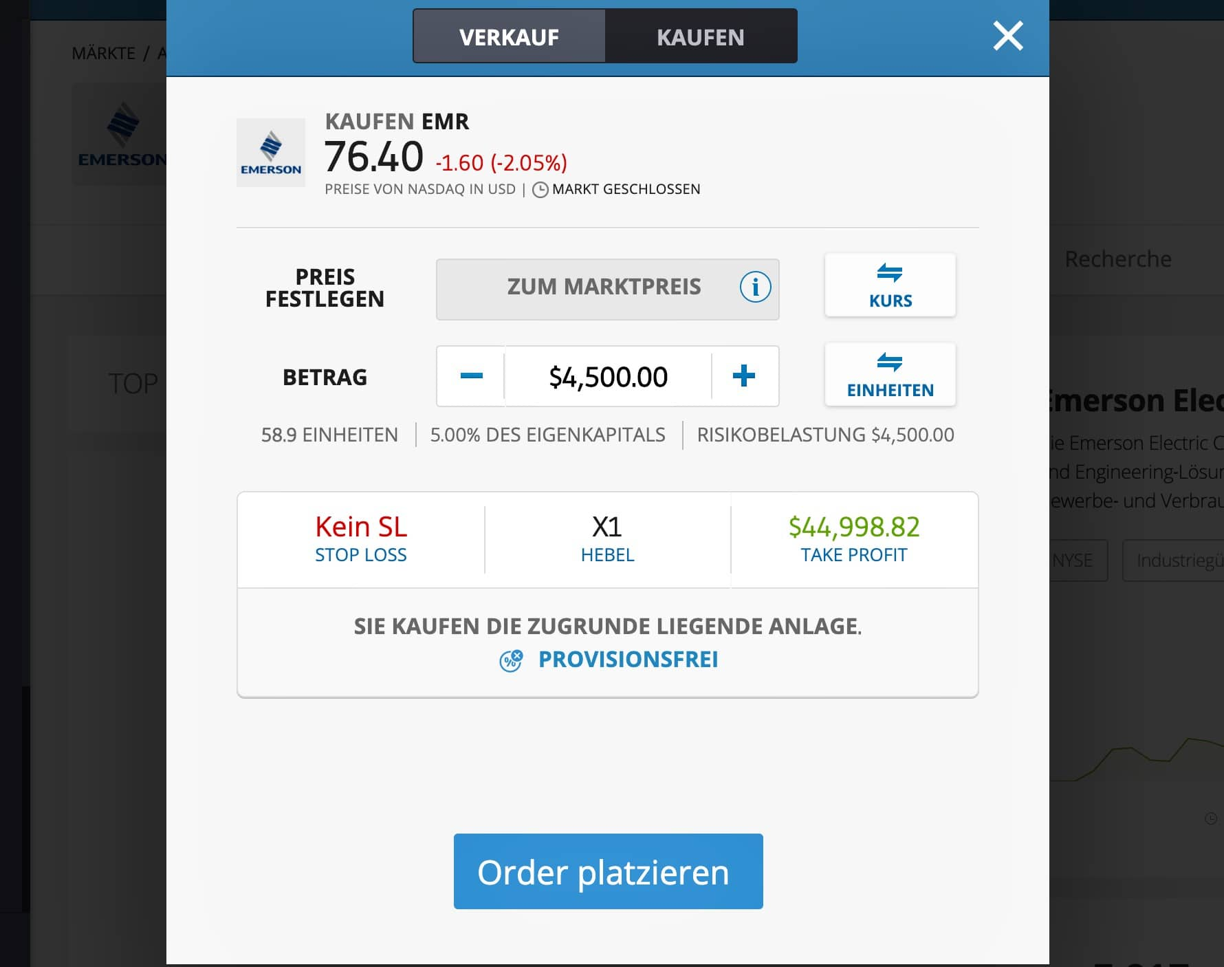 Emerson Electric Aktie kaufen_etoro