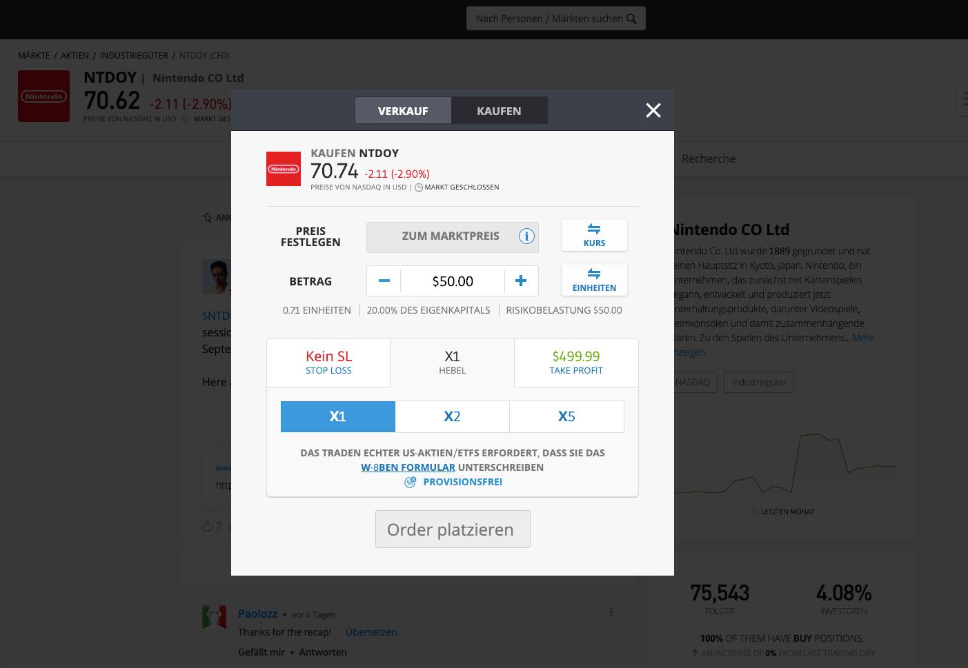 Nintendo Aktie kaufen