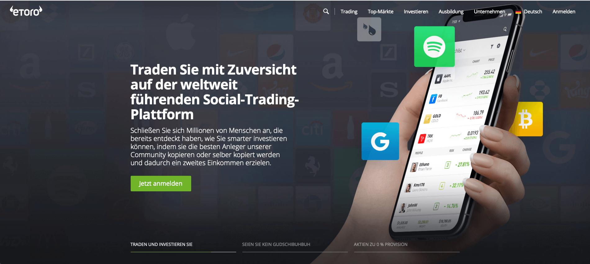 eToro Header - Werbung - Aktien