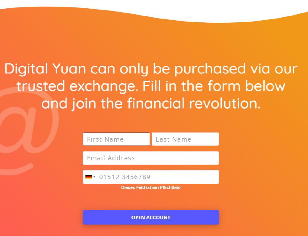 Yuan Pay Group Registrierung
