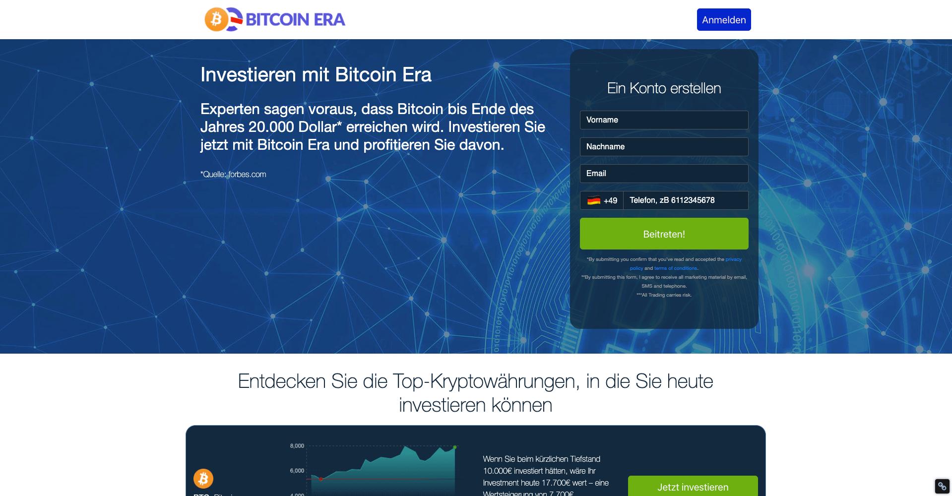 Enregistrement Bitcoin Era