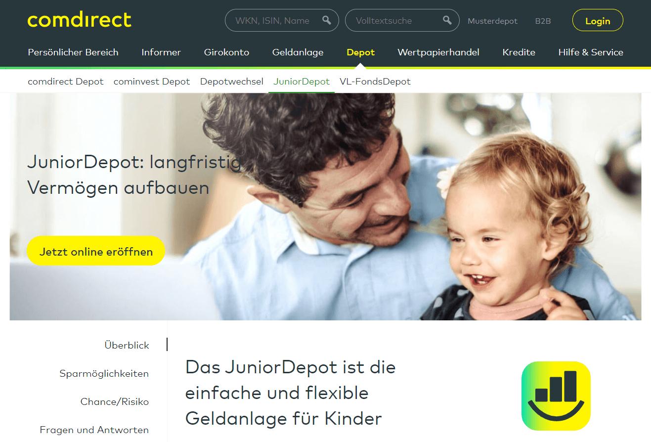 Comdirect Junior Depot