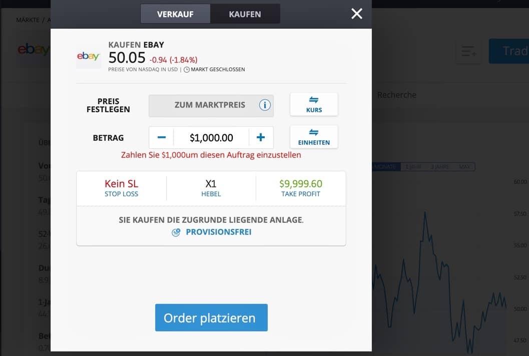 Ebay Aktie kaufen etoro