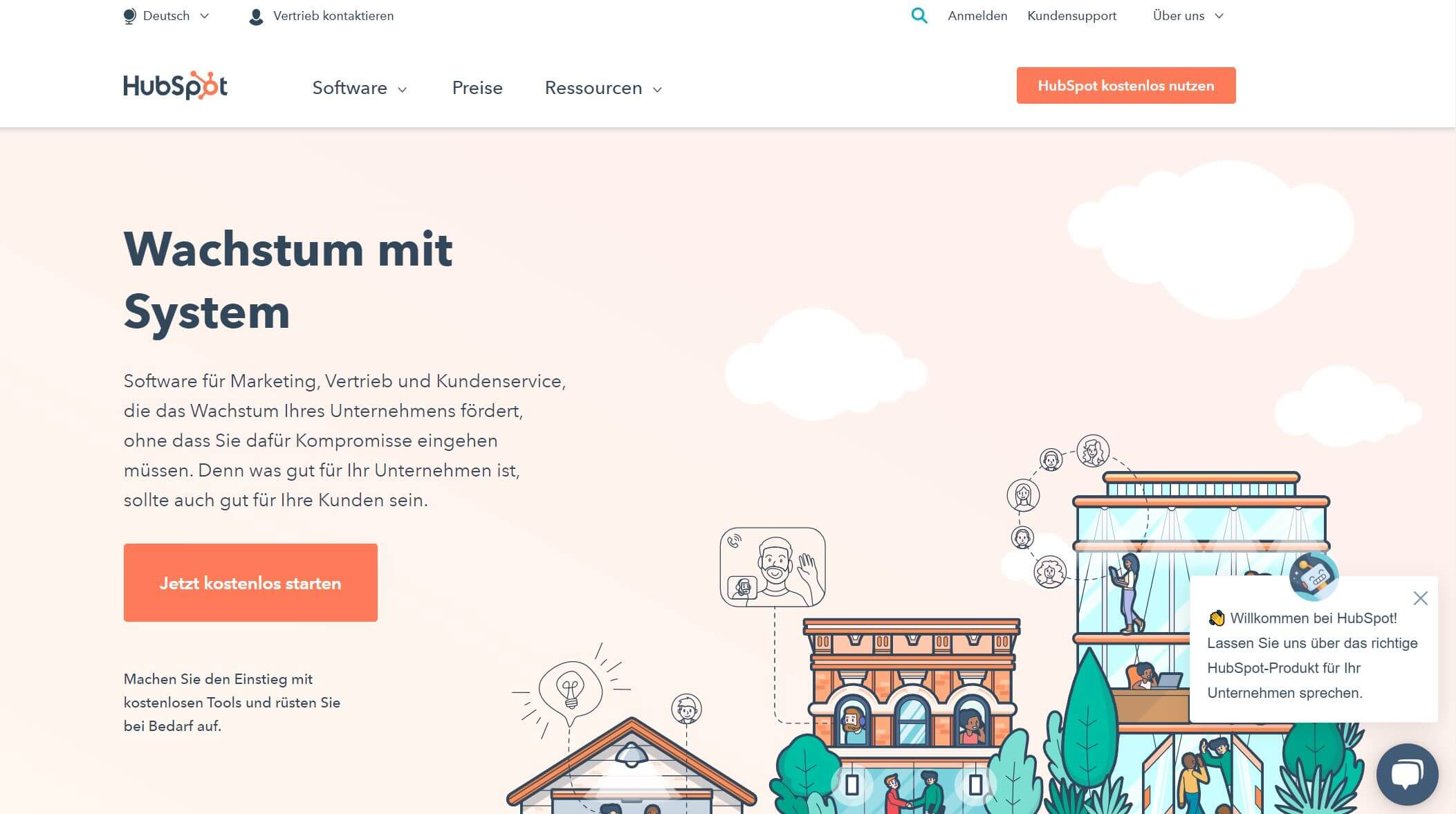 HubSpot Startseite