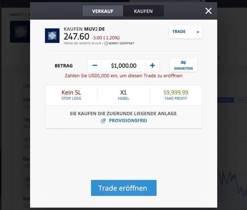 MunichRE Aktie kaufen etoro